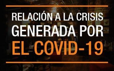 PRESIDENTE DE ASOBARES COLOMBIA EN RELACIÓN A LA CRISIS GENERADA POR EL COVID-19